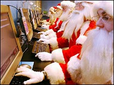 Santa's using the internet