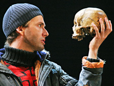 David Tennant with skull