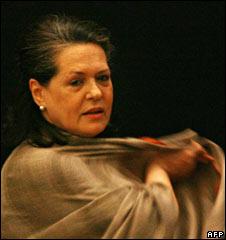 Sonia Gandhi in Delhi on 21 November
