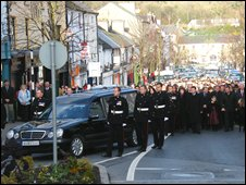 Funeral of fallen soldier