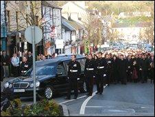 Funeral of fallen soldier