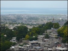 A view of Port-au-Prince from the UN headquarters