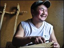 Tumenulzi, musical instrument maker, Mongolia