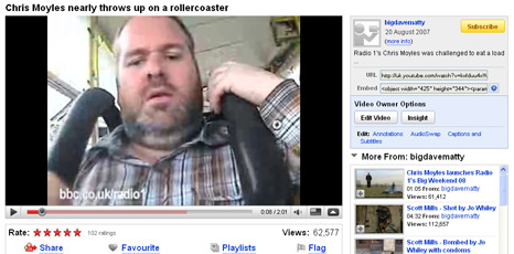 Chris Moyles on YouTube