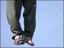 Iranian hanging (archive image)