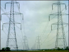 Electricity pylons (library picture)
