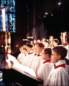 Choirboys at King's College, Cambridge