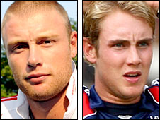 Andrew Flintoff and Stuart Broad