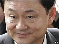 Ex premier Thaksin Shinawatra.