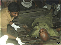 Hombre herido en Bombay