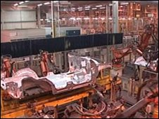 Jaguar Land Rover factory in Solihull
