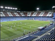 An empty Vicente Calderon stadium