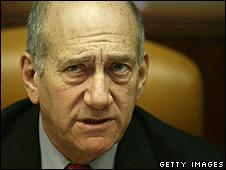 Israeli caretaker PM Ehud Olmert