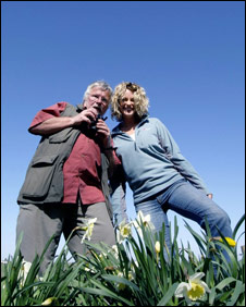 Bill Oddie and Kate Humble on Springwatch.