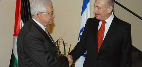 Palestinian and Israeli leaders in Jerusalem, November 2008