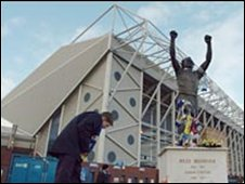 Billy Bremner statue outside Elland Road stadium