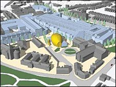 The layout of the planned development