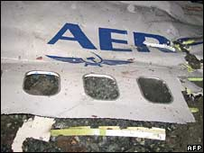 Wreckage of the Boeing 737-500 that crashed near Perm on 14 September 2008