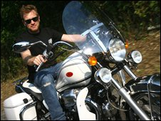 Ewan McGregor on the bike