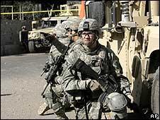 US soldiers in Baghdad, 26 November
