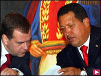 شافيز وميدفيديف