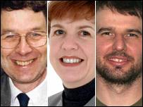 John Whiting, Jane Moore and Eddy Graham