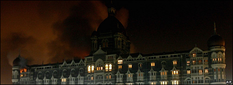 Fire inside the Taj Mahal Palace Hotel (27 November 2008)