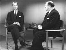 Richard Dimbleby with the Duke of Edinburgh