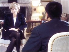 Martin Bashir interviewing Princess Diana