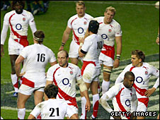 England trudge off the pitch after the game against South Africa
