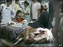 Escena en un hospital de Bombay