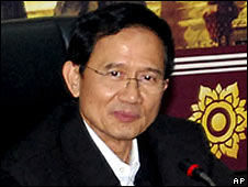Thai PM Somchai Wongsawat chairs a cabinet meeting in Chiang Mai, Thailand (28/11/08)