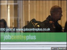 Job Centre Plus in Westminster, London, November 2008
