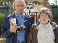David Walliams and Matt Lucas as characters Sandra and George