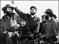 Fidel Castro llega a La Habana