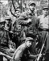 Fidel Castro y sus compañeros de la revolución