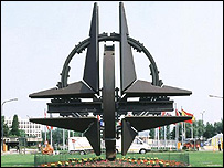 Nato headquarters sign