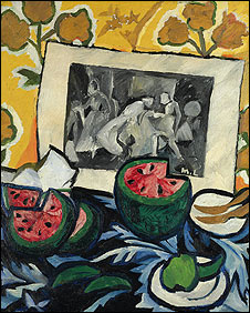 Natalia Goncharova's Still Life with Watermelons