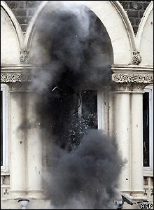 Grenade explodes in window of Taj Mahal hotel - 28/11/2008