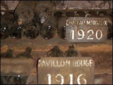 Vintage wine bottles, Chateau Margeaux