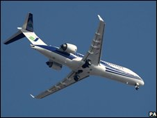 The ARJ-21 during its maiden flight