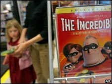 DVD of Incredibles