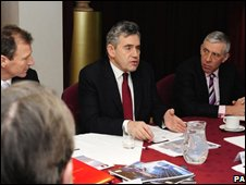 Gordon Brown chairs cabinet meeting in Leeds