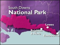 Proposed South Downs National Park