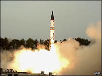 Misil indio lanzado en mayo de 2008
