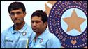 India's Sourav Ganguly and Sachin Tendulkar