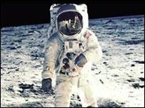 Hombre en la Luna                       Foto: NASA