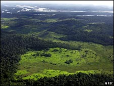A deforested area in northern Brazil (file pic)