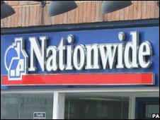 Sign above a Nationwide branch