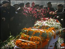 Funeral ceremony for NSG commando Gajendra Singh